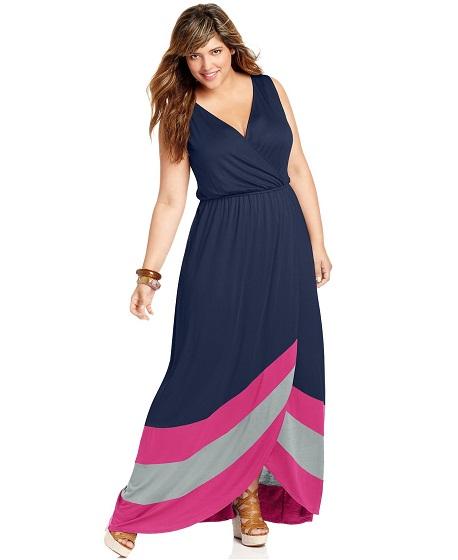 Hermosos vestidos para gorditas: Moda verano 2015
