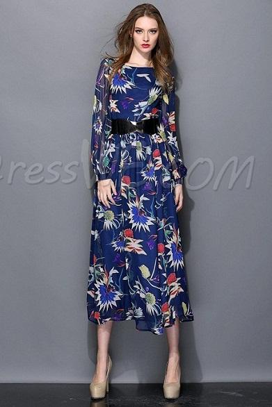 mayor descuento disfruta del envío gratis materiales de alta calidad Vestidos floreados con manga larga – Vestidos baratos