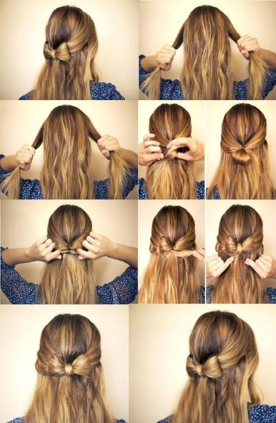 peinados medio cabello