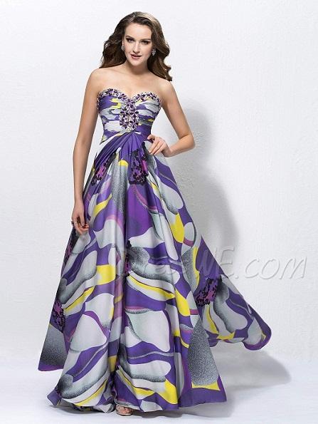 Vestido de fiesta largo floreado