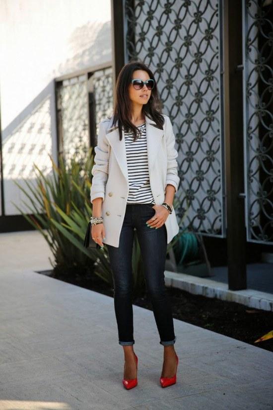 ropa rayas blanco y negro