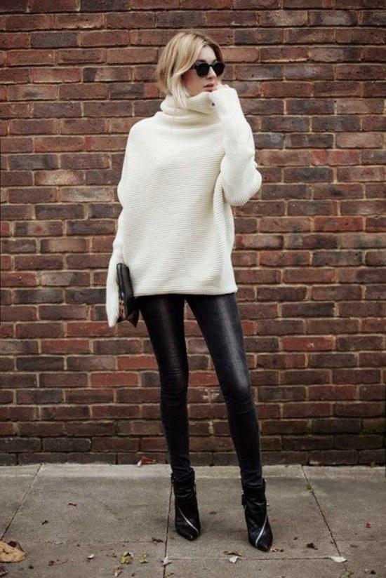 sueteres tejidos blanco