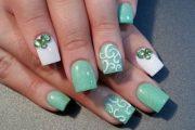 Lindos Diseños de Uñas con Trébol para el día de San Patricio