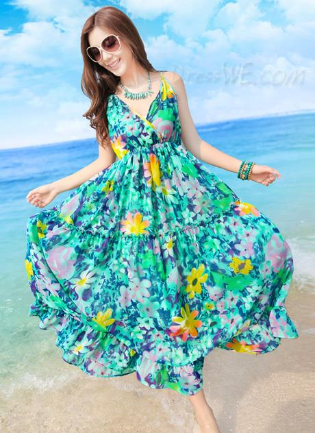 Hermosos modelos de vestidos playeros 2015