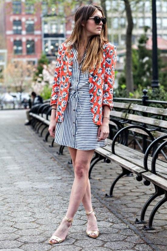blazers flores moda primavera