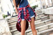 Combinaciones de Outfits con Camisas de Cuadros Tartan para Primavera 2015