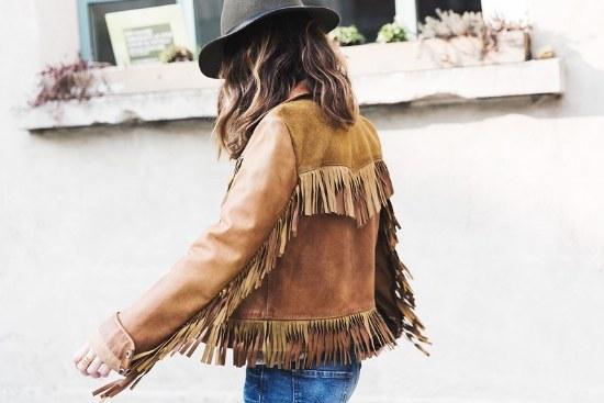 chaquetas flecos indio americano moda