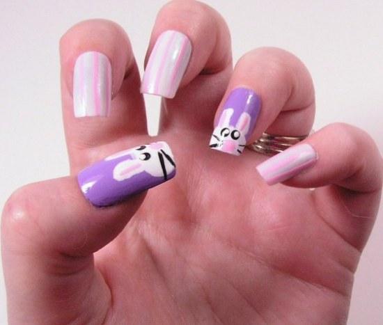 diseños uñas pascuas conejos