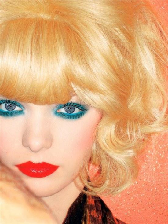 sombra ojos maquillaje verde agua