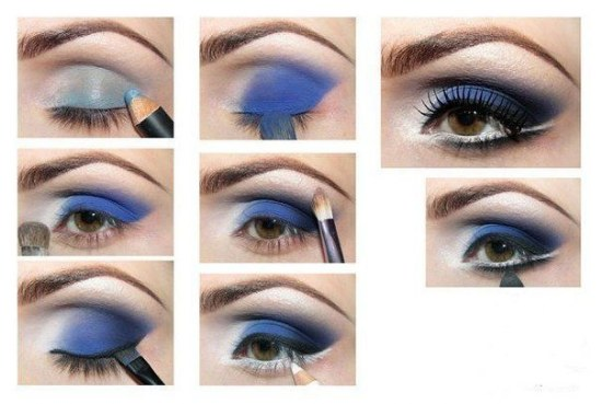 Maquillaje para vestido azul paso a paso