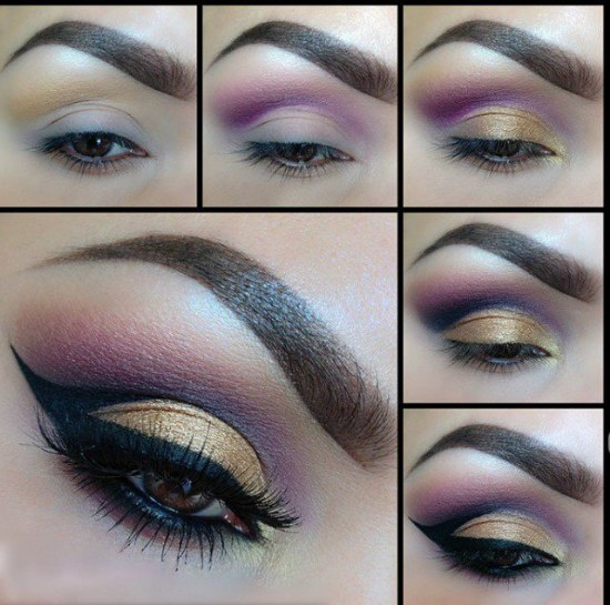Eye Makeup For Ethnic Wear With Golden Theme