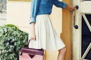 Combinaciones de Outfits con Camisas de Jean Denim para Primavera 2015