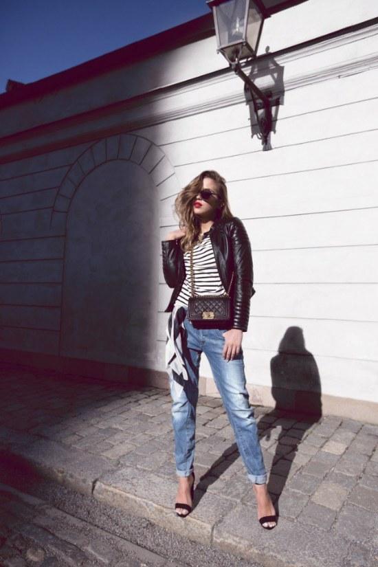outfits chaquetas negras moda primavera