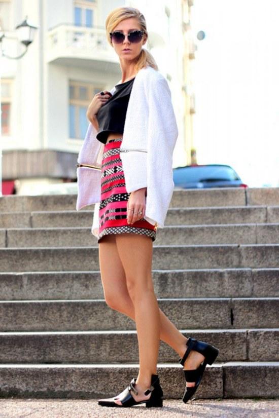outfits con faldas shorts primavera