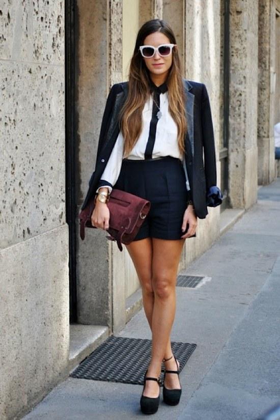 shorts primavera moda outfits