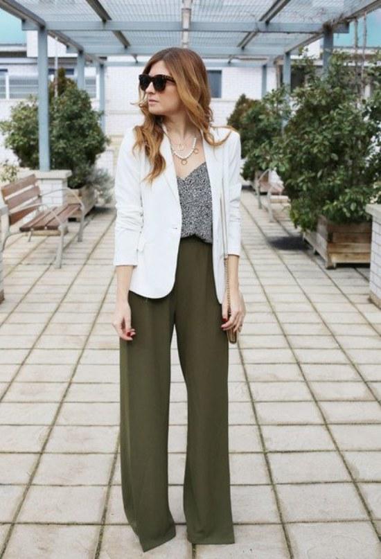 pantalones anchos palazzo primavera