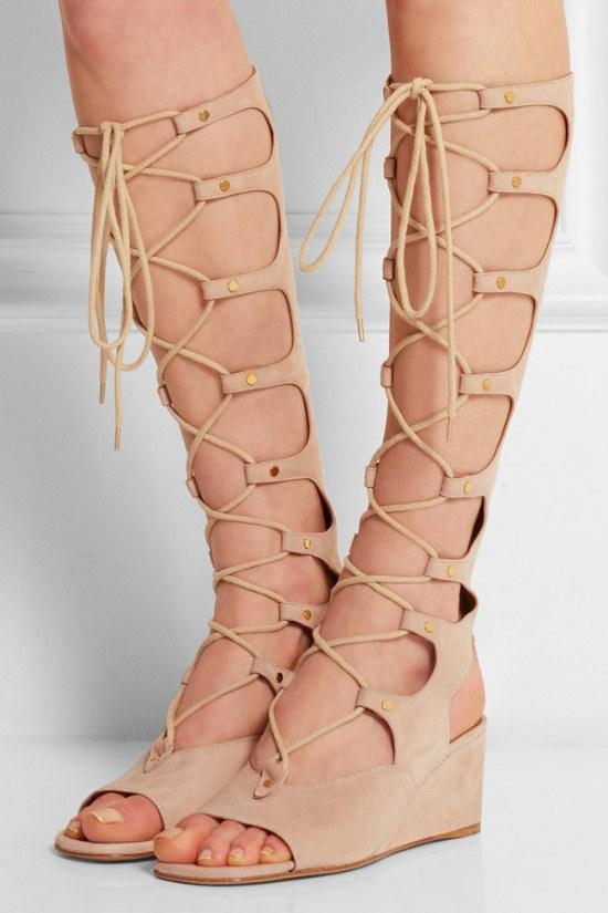 sandalias romanas gladiadoras moda