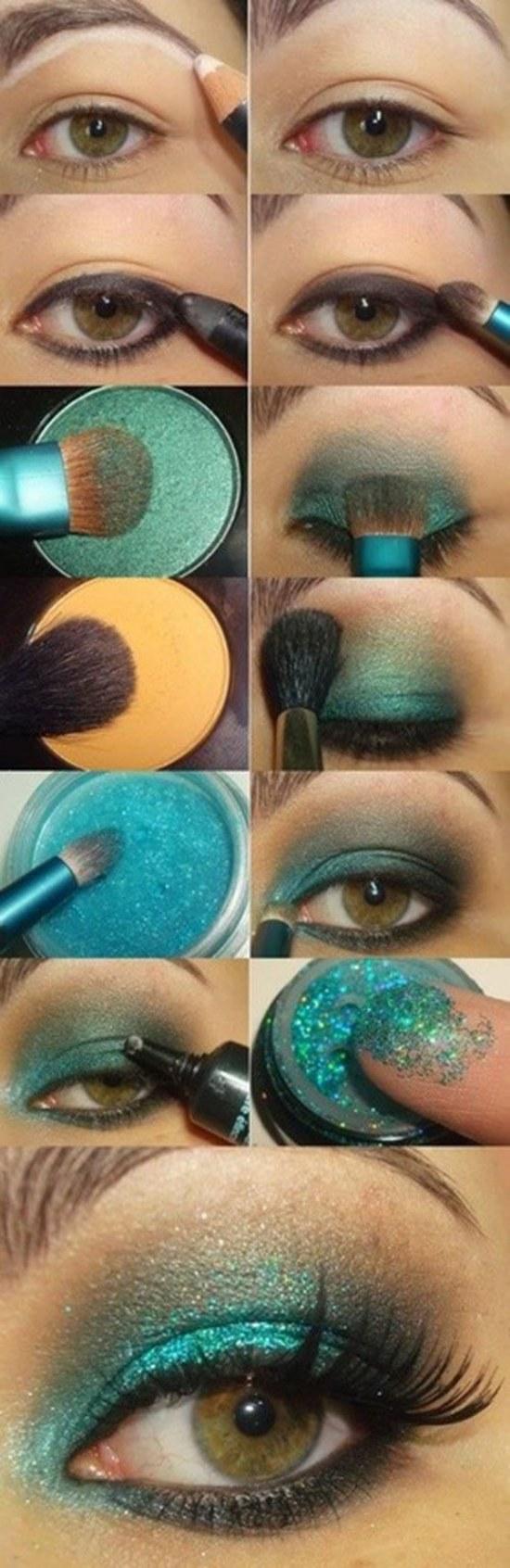 maquillaje sombras ojos verdes