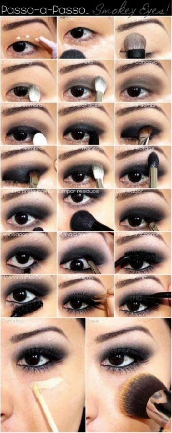 Hermosos tutoriales paso a paso en maquillaje de sombra for Como maquillar ojos ahumados paso a paso