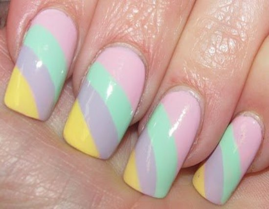hermosos diseños para uñas con colores pasteles para primavera