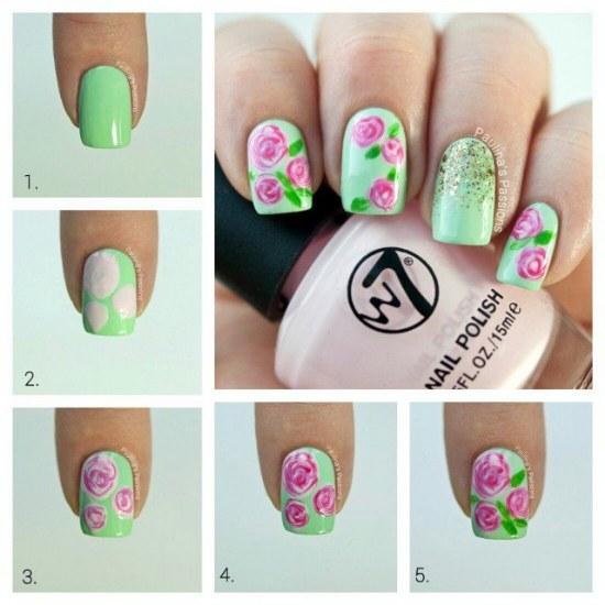 diseño uñas flores primavera