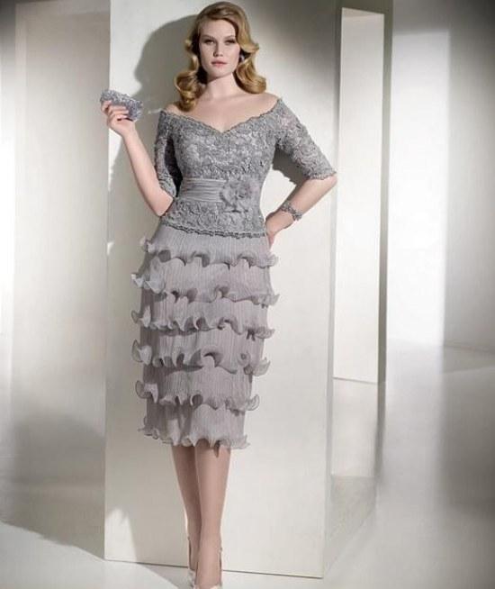 Hermosos Vestidos Elegantes y Cortos para Fiestas de Noche para Gorditas