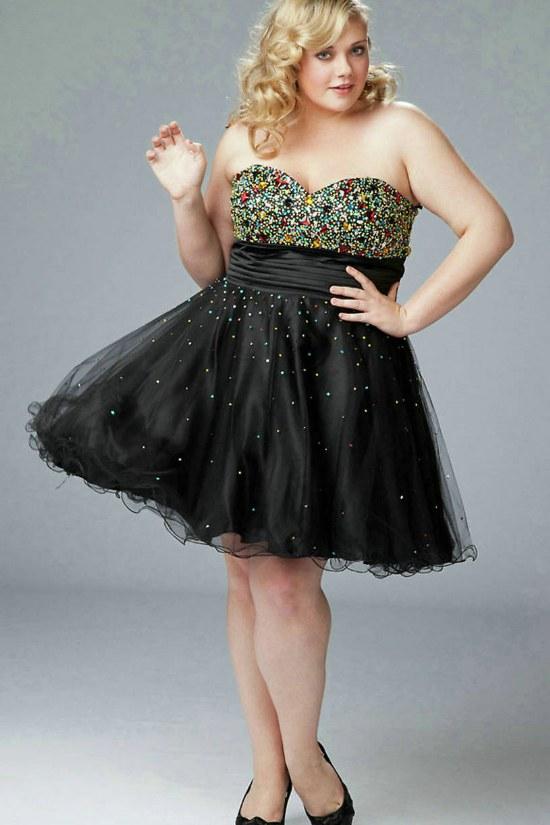 Mujeres gordas con vestidos de fiesta
