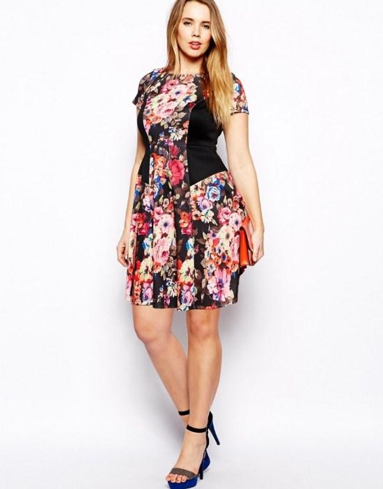 Vestidos Florales Casuales Cortos de Moda para Gorditas para Primavera 2015