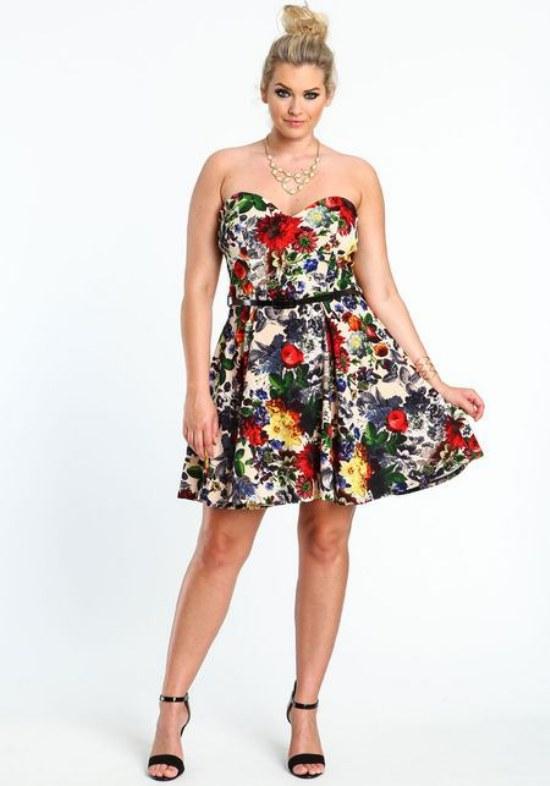 vestidos flores gorditas cortos