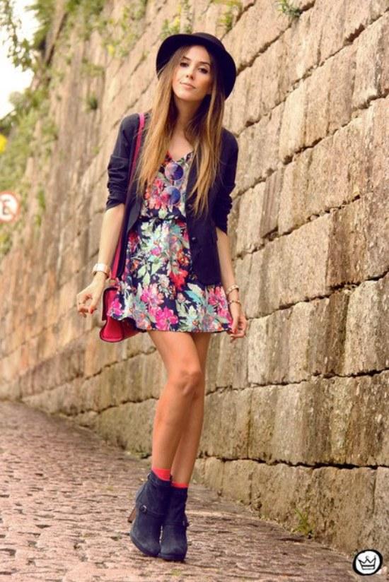 vestidos cortos flores primavera