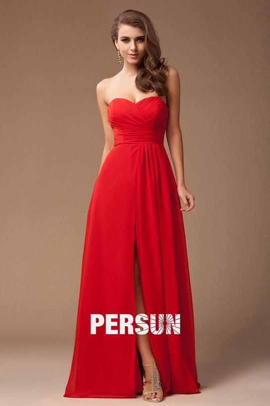 Atractivos vestidos rojos para fiestas de noche
