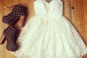 Combinaciones de Outfits con Vestidos Coctel y Faldas para Fiestas en la Primavera