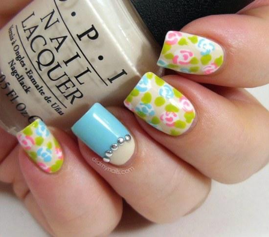 diseño uñas flores primavera manicure