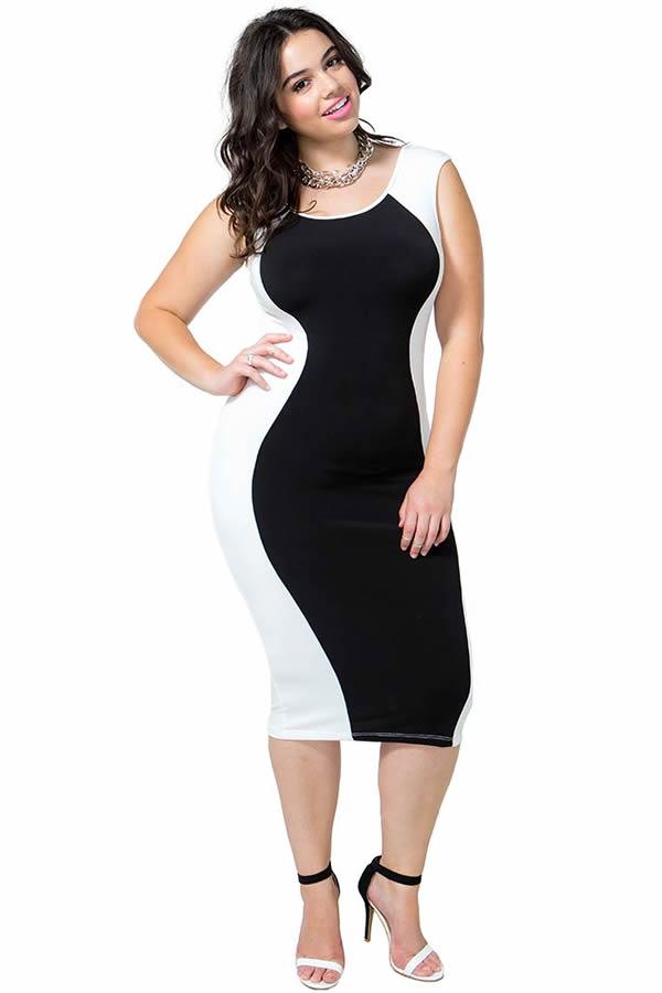 Vestidos combinados blanco y negro 2014