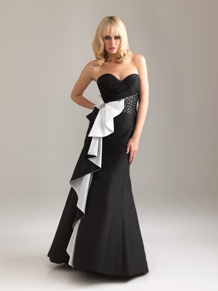 Vestido para fiesta blanco y negro