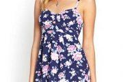 Vestidos juveniles con diseños florales