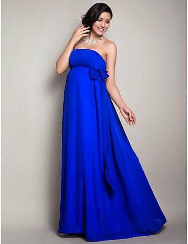 Preciosos vestidos de moda para chicas embarazadas