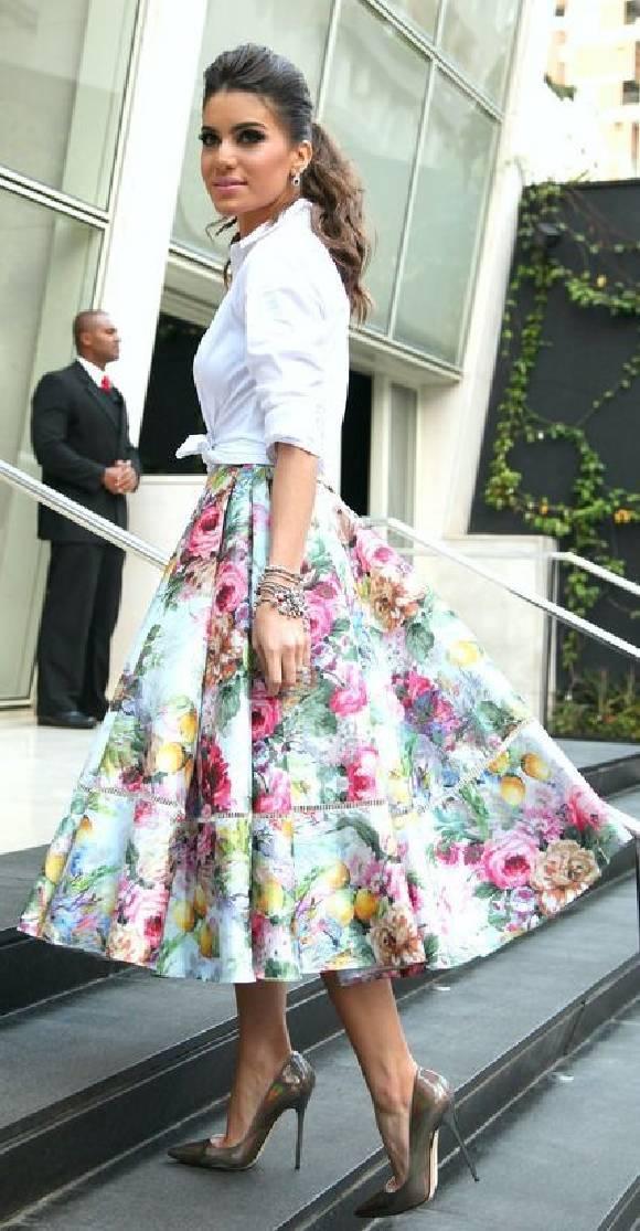 Faldas con estampados florales