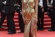 """Irina Shayk con un """"vestido de oro"""" en el Festival de Cannes"""