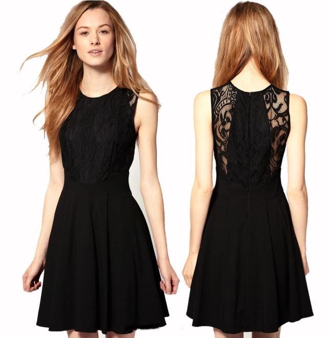Fotos de vestidos cortos color negro