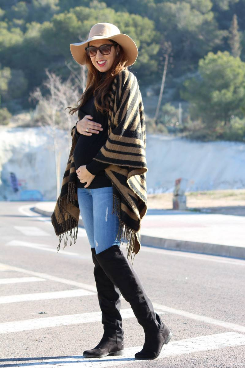 ponchos y capas para mujeres invierno 2015