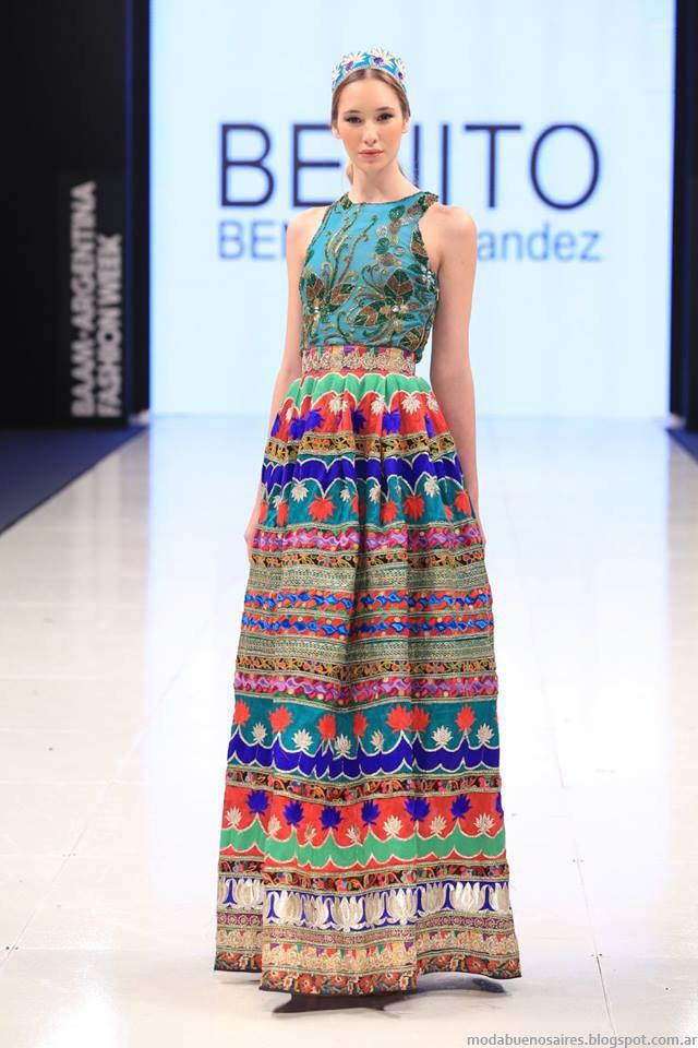 Vestidos de Fiesta Moda Folk Otoño-Invierno 2015