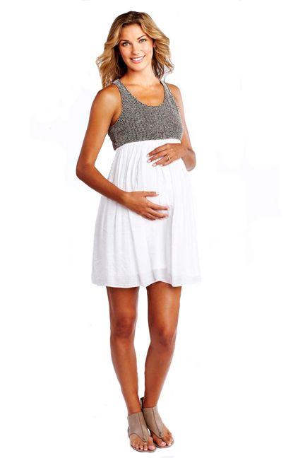8282cbee1 Vestidos casuales y sencillos para embarazadas