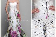 Hermosos vestidos estampados para fiestas elegantes