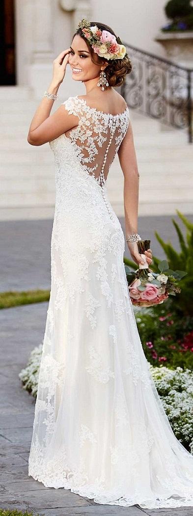 encantadores y románticos vestidos para novias | aquimoda