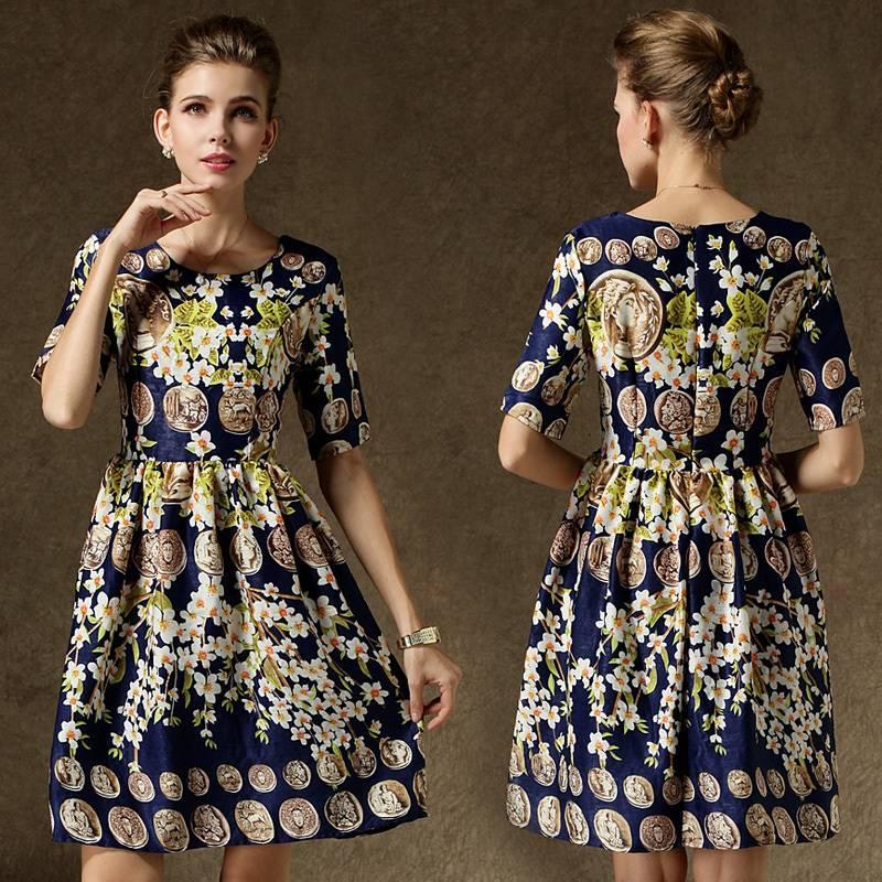 Vestidos Cortos Estampados Moda Primavera Verano 2015