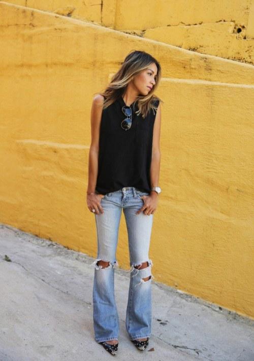 La moda viaja en el tiempo! Vuelven los Jeans de bota ...