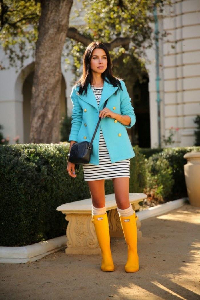 outfits botas lluvia