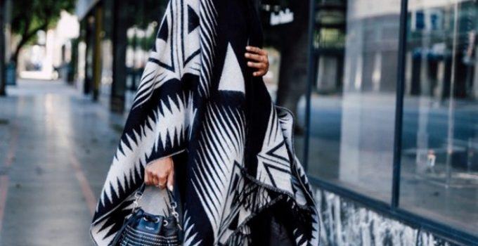 ponchos outfits moda