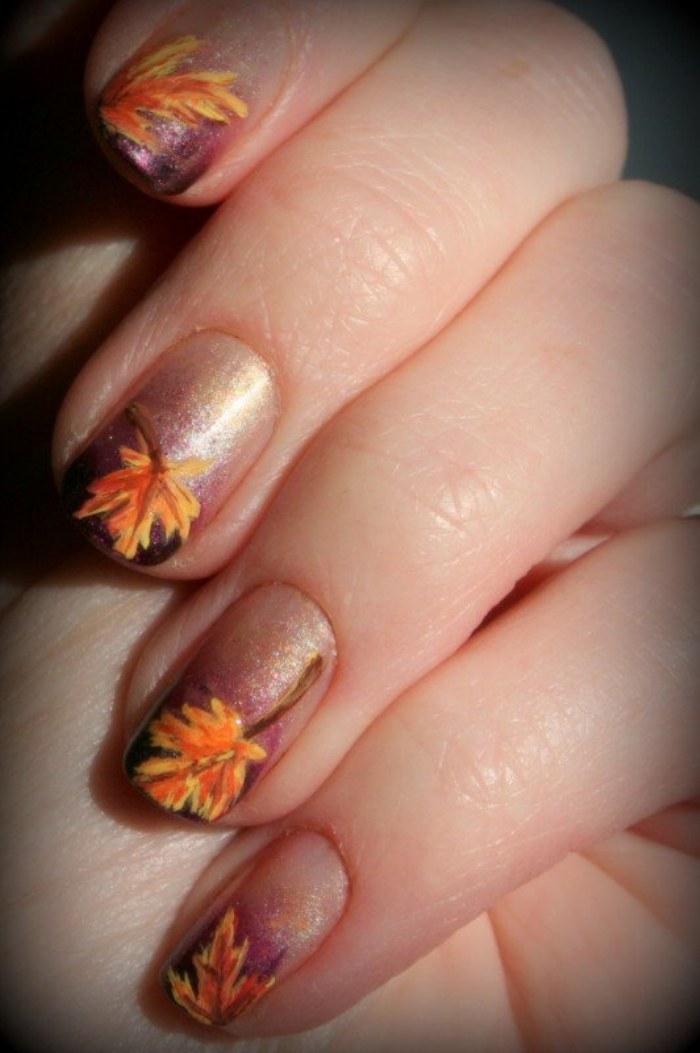 unas colores otoño